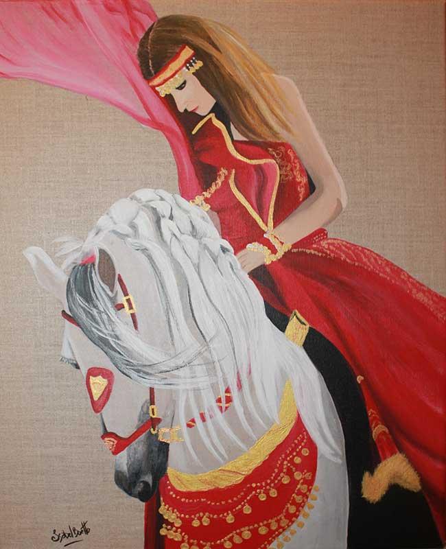 Complicité Équestre - Peinture Isabelle BOETTO
